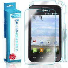 2x iLLumi AquaShield Front Screen + Back Protector for LG Optimus Dynamic II