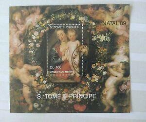 Sao Tome und Principe 1989 Weihnachten Block 222 o/Used/Gest. Michel 12€