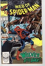 Web Of Spider-Man #51 June 1989 Marvel Comic Book Crimelord Of New York Wolves