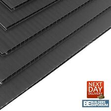 More details for correx sheets 8x4 2400x1200mm heavy duty black / corrugated plastic 2mm