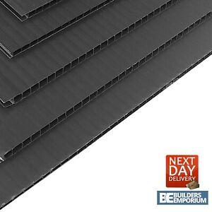 Correx Sheets 8x4 2400x1200mm HEAVY DUTY Black / Corrugated Plastic 2mm