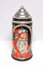 1994 Old World Santa lidded stein made in Germany by Gerz