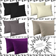 Luxury Housewife 2x Pillowcases 100% Egyptian Cotton T300,Available In 6 Colours