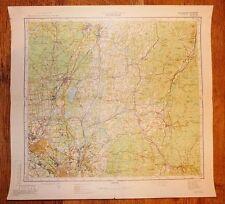 Authentic Soviet Topographic Map SCHENECTADY, New York USA 1:200 000 #C4 1976