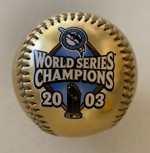 Florida Marlins World Series Champions 2003 Gold Colored Fotoball / Baseball