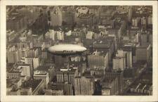 New York City GoodYear Good Year Blimp Unidentified Real Photo Postcard