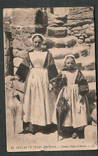 France 1919 Types Bretons- Jeunes Filles d'Auray post card to Hagerstown MD