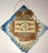 Rare Antique Victorian American Large Homemade Valentines Day Card Decoration!