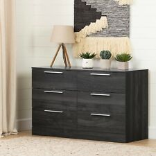 South Shore Step One 6-Drawer Double Dresser, Gray Oak