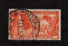 Italy - 1932 - SC 302 - Used - Flag, Athlete & Stadium