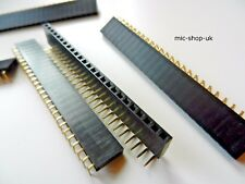 "2.54mm 0.1"" PCB Header Sockets / Single Row , 25 Way Right Angle , Quantity 10"