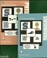 VINTAGE BOY SCOUT - TWO CUB SCOUT SPORTS BOOKS - SWIMMING & PHYSICAL FITNESS