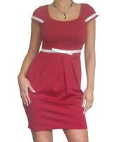 Ladies Bodycon Mini Dress Work Business Size 8 10 12