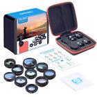 APEXEL 10 in 1 Smartphone Camera Lens Kit Fisheye Wide Angle Macro Telescope