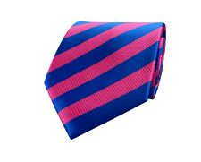 Mens Ties Blue Pink Woven Striped Floral Paisley Jacquard Silk Necktie Hanky