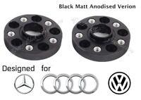 Merit Wheel Black Spacer Adapters 20 mm 5x112 To 5x112 Hub Centric 2PCS AUDI