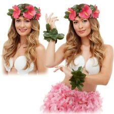 Mujer Hawaiano Luau Tiki Disfraz Kit Disfraz Mujer Fiesta Playa