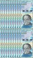 VENEZUELA BOLIVARES20 X 10000 (10,000) P-NEW UNC LOT 20 PCS Total