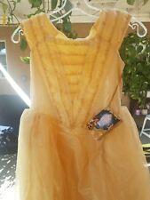 Disney Store Belle Beauty And The Beast Girls Halloween Costume Dress S 9/10