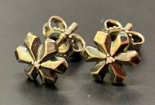 ***SALE***  Authentic Trollbead Diamond Stud Earrings, Strands Of Light