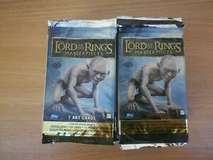 Lord Of The Rings Masterpieces Lot Of 20 Factory Sealed Hobby Packs Sketch ??