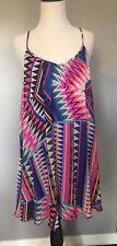 Express Womens Junior Small Blue Pink Black Geometric Tank Dress NWT