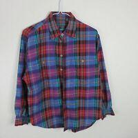 Liz Wear Vintage Plaid Button Up - Women's Medium