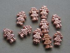 10 Copper Girl 17x12mm Acrylic Beads(K191E39)