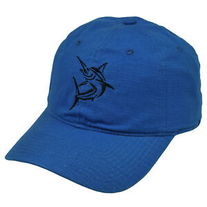 Swordfish Fishing Blue  Hat Cap Camp Outdoors Fish Relaxed Broadbill