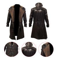 Blade Runner 2049 Ryan Gosling Brown (Officer K) Fur Lapel Collar Trench Leather