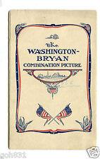 1908 Presidential Campaign postcard WILLIAM JENNINGS BRYAN Washington Combo Pix