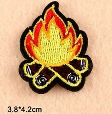 Camping Fire Patch Camp fire Iron Sew On Boy Scout Applique Motif Tent