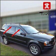 Set 4 Deflettori Aria Antiturbo Oscurati Volvo XC90 XC 90 2002-2014
