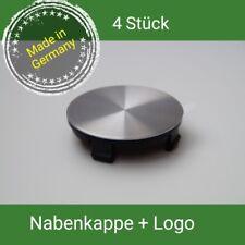 TTE  + Alu Logo gebürstet Nabenkappen Felgendeckel 55 mm Borbet Aluett ,4 St.