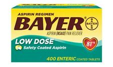 Bayer Aspirin Regimen Low Dose 81mg, 400 Enteric Coated Tablets