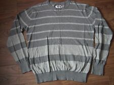 Mens Gio Goi Grey and Red Long Sleeved Sweatshirt Jumper Sweater Size Large