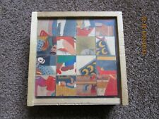 Vintage Swiss Made Wooden 'Klotzli' Jigsaw Cube Puzzle (6 Puzzles in 1 Box!)