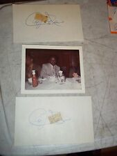 3pcLOT 1971 AL JACKSON NY METS AUTOGRAPH SIGNED PHOTO PERSONALIZED TO ME + PAPER