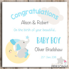 Personalised New Baby Boy Card Congratulations Parents It's a Boy Card