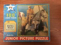 1956 WILD BILL HICKOK Puzzle built rite guy madison,indian chief. 100 Pieces