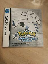 Pokemon SoulSilver - Nintendo DS Manual ONLY