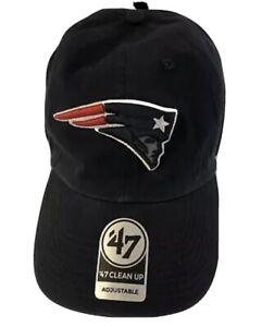New England Patriots '47 Brand Navy Blue Clean Up Adjustable Dad Hat