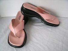 CALLISTO OF CALIFORNIA Women's Comfort LEATHER Flip Flops Sz 7 US 38 EU Pink NEW