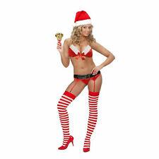 Damen Unterwäsche Sexy Santa Strapse Erotik Weihnachten Reizwäsche Scherzartikel