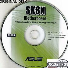 ASUS GENUINE VINTAGE ORIGINAL DISK FOR SK8N Motherboard Drivers Disk M381