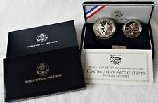 """USA: Two-Coin Set Commemorative Coins 1994 """" World Cup USA """", Pf, Proof, No. 1"""