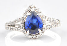 14KT Real White Gold 1.80Ct Natural Blue Tanzanite EGL Certified Diamond Ring