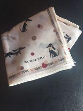 "Burberry Handkerchief 19.5""x19.5"" Polka Dot Dachshund Puppy Dog Design [Japan]"