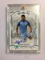 2018 Leaf Immortal Soccer - SERGIO AGUERO - MAN CITY - Blue Parallel AUTO - 4/10