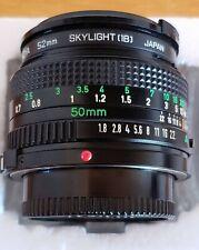 Canon FD 50mm f/1.8 1.8 Fixed Prime Lens - pristine